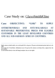case study on gsk in developing countries.