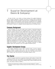 Supplier Development at Deere & Company 3
