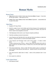 Tutorial 06-11-13 - Roman Myths