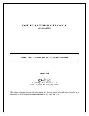 gowling lafleur henderson memorandum on director and officers duties and liabilities.pdf