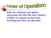 1.2 Order of Operations