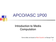 APCO 1P00 - Week 1 Lecture Slides