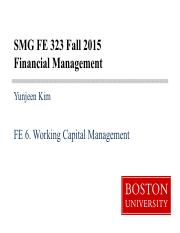 FE6 Working Capital Management