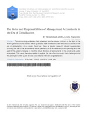 Article 3 The Roles and Responsibilities of Management Accountants in the Era of Globalization