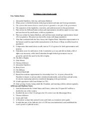 US History Unit 2 Study Guide