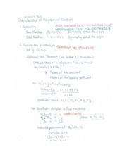 Characteristics of Polynomial Functions Notes