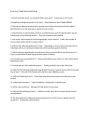 ECOL  UNIT THREE EXAM QUESTIONS.docx