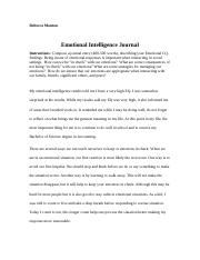 Emotional Intelligence Journal