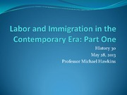 16 Labor and Immigration Part 1