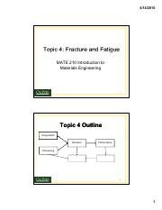 Fracture and Fatigue