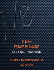 CHAPTER 7 TRANSFERS DURING LIFE