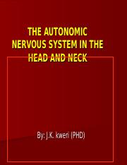 autonomic arragement of head and neck, nasal, arol and pharynx