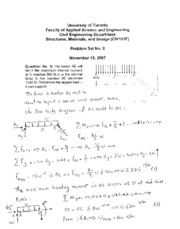 Solutions to Problem Set No 9