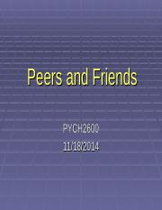 Peers and friendship.ppt