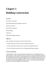 FFP 2810 Chapter 5 - Building Construction