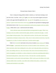 personal literary narrative essay