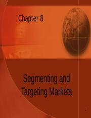 Student Chapter 8 Segmentation and Positioning