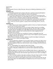 descartes essay 1000 words