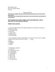 practice exam II fin 256fal2013part1 (1)updated