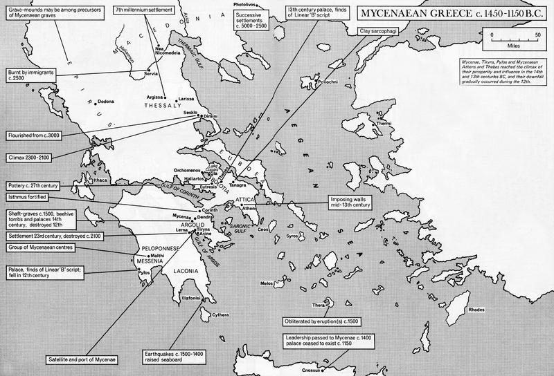 Map Mycenaean Greece Coded Remains 800