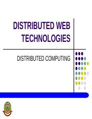 DISTRIBUTED WEB TECHNOLOGIES