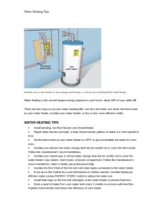 FMGT590DirectedStudies_Water Heating Tips