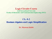 Ch. 4-2 Boolean Algebra and Logic Simplification