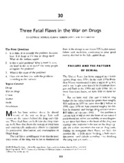 Bertram - Three Fatal Flaws in the War on Drugs - Ch30 in Charon