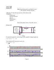 Lab 3 First And Second Order Circuits Eecs 70lb Spring