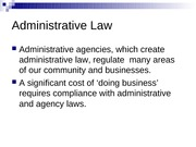Administrative Agencies (Chapter 19)