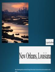 New Orleans Louisiana powerpoint natural disasters.ppt