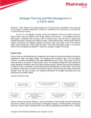 Case Study_RM in VUCA World