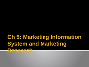 Chapter 5: Marketing Information Systems