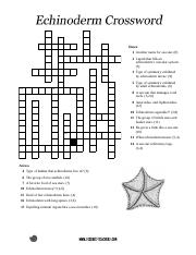 echinoderm_crossword - 1 2 3 4 5 Down 1 Another name for sea ...