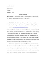 annotated bibliography youth cultures