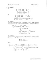 Answers to Linear Algebra Degree Exam 2012 (solutions)