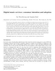 Digital music services consumer intention and adoption