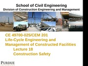 Lecture 18-Construction Safety
