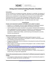 Using_and_communicating_results_checklist