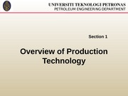 CH1 Overview of Production Technology