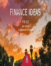 FIN-311-Finance-Ideas