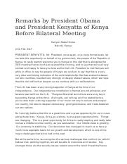 Remarks by President Obama and President Kenyatta of Kenya Before Bilateral Meeting.docx