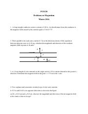 Revised Problems in magnetism