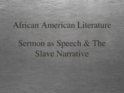 African American Lit Lecture 2