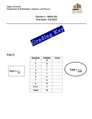 Math101-Exam 1-V1-Grading Key