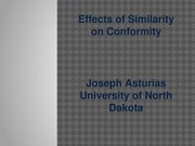 Effects of Similarity on Conformity