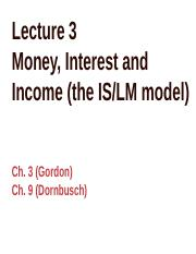 Lecture 3 Money, Interest and Income(2)