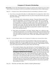 Assignment 9 Romantic Relationships(1).docx