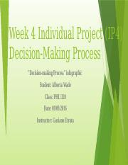 Week 4 Individual Project (IP4) Decision-Making.pptx