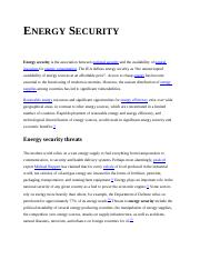 Energy security.doc